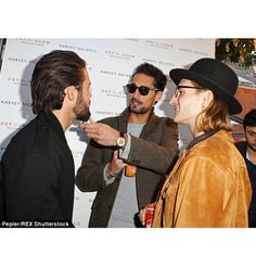"""""""Oil and I admiring Spencer's beard last night at @madeleine_shaw_ launch for her wonderful new book """"Get The Glow""""..."""""""