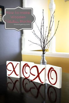 DIY Valentine's Blocks!  Perfect crafts for Valentine's Day!  Capturing-Joy.com