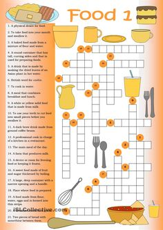 Crossword: Food 1