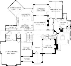 Craftsman Plan: 8,376 Square Feet, 5 Bedrooms, 7.5 Bathrooms - 3323-00646 Garage House Plans, Craftsman Style House Plans, House Floor Plans, Coastal House Plans, Coastal Homes, Coastal Living, Feng Shui House, Mountain House Plans, Garage Interior