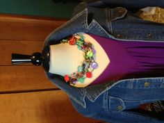 Spectrum necklace can be worn with so many shirts! Very versatile piece. Carolyn Popp Premier Designs Jewelry.