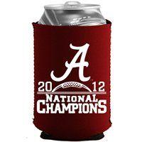 University of Alabama Crimson Tide Striped Can Koozie Cooler