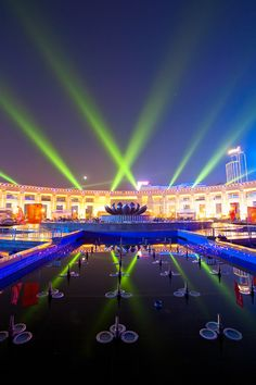Spring City Square in Jinan City, Shandong Province_ China