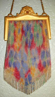 Colorful Whiting Davis Vintage Fine Mesh Purse