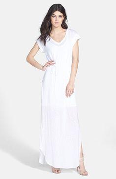 Splendid Slub Knit V-Neck Maxi Dress available at #Nordstrom