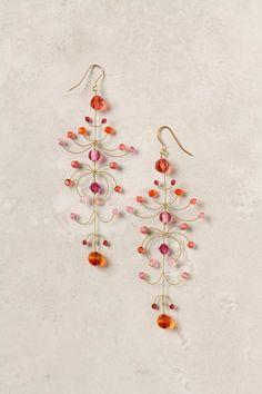 Kestrel Earrings by Philippa Kunisch Wire Earrings, Wire Jewelry, Jewelry Crafts, Earrings Handmade, Beaded Jewelry, Jewelry Box, Jewelry Accessories, Jewelry Design, Jewelry Making