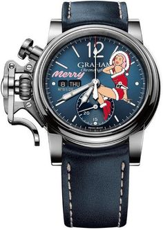Graham Watch Chronofighter Vintage Nose Art Merry Limited Edition #add-content #bezel-fixed #bracelet-strap-leather #brand-graham #case-material-steel #case-width-44mm #chronograph-yes #date-yes #day-yes #delivery-timescale-call-us #dial-colour-blue #discount-code-allow #gender-mens #limited-edition-yes #luxury #movement-automatic #new-product-yes #official-stockist-for-graham-watches #packaging-graham-watch-packaging #style-dress #subcat-chronofighter #supplier-model-no-2cvas-u06a-l129s
