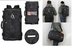 Faket High Quality Men Backpack Shoulder Handbag Multi Functioning Travel Bag Waterproof Nylon Canvas