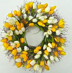 Wreaths For Door - Princess of Amsterdam Tulip Wreath?, $59.99 (http://www.wreathsfordoor.com/princess-of-amsterdam-tulip-wreath/)