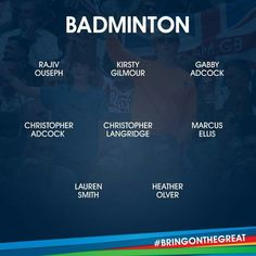 Badminton Team GB Rio 2016