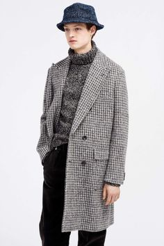 J.Crew Fall 2016 Menswear Fashion Show. Digging the houndstooth with the chunky turtleneck.l