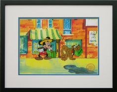 Mr Mouse Takes A Trip (Mickey Mouse and Pluto) - Walt Disney Limited Edition Animation Cel, Framed, DC-MP-08F >>> Instant discounts available  : Kids Room Decor