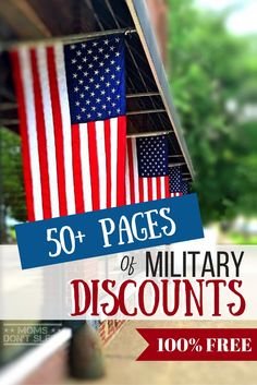 You can literally save thousands of dollars on everyday things just by being a military family. Here is over 50 pages of military discounts, coupon codes, and other special instructions you need in an organized and clickable PDF format. The best part? It's totally FREE!! Click here to download!