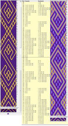 20 tarjetas, 2 / 4 colores , repite cada 48 movimientos // sed_283a diseñado en GTT༺❁