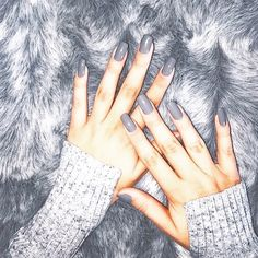 Light Grey Nails and Sweater