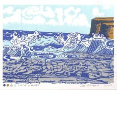SALE Wild Waves Linocut print ref 103 by Zebedeeprint on Etsy, Picture Frame Sizes, Picture Frames, Tim Mara, Linocut Prints, Art Prints, Collage, Linoprint, Number Two, Delft