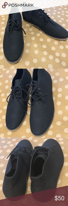 Zara Man Blue Shoes These shoes are stylish and can be dress up or dressed down.  New without tag or box.  Sole shows some very light wear from in store try ons.  Thank you for looking and please check out the rest of my closet. Bundle and save! Zara Shoes Loafers & Slip-Ons