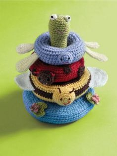 Pond Friends Stacking Toy - Free Crochet Pattern - (lionbrand)