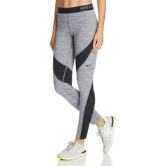 Nike Pro Hyper Warm Leggings ($60) ❤ liked on Polyvore featuring activewear, activewear pants, dark grey heather, nike activewear, nike, nike activewear pants and nike sportswear