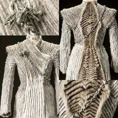 """Details of Danny's dress in """"Eastwatch"""". Absolutely fabulous.#gameofthrones"""