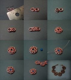 "Fradany: Tutorial: Bracelet ""Flowers with Hoops"" real tutorial"