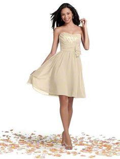champagne dress alfred angelo style 7242S