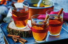 Warming Bonfire Night drinks | Tesco Real Food Bonfire Night Toffee, Bonfire Night Menu, Bonfire Night Treats, Bonfire Night Food, Bonfire Parties, Bonfire Ideas, Fun Sandwiches For Kids, Parkin Recipes, Hot Spiced Cider