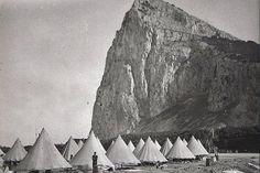 Campamento de refugiados en Gibraltar.