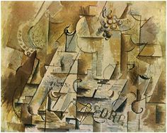 Still Life with a Bunch of Grapes - Georges Braque - WikiArt.