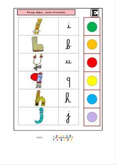 Logico des alphas : passage alphas – cursive   MC en maternelle
