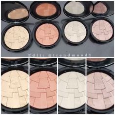 Here are all 4 Illuminators by Anastasia Beverly Hills. Coming out August!!! Gold, Peach, White & Rose Gold! Highlighters are definitely my addiction.