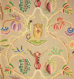 Tissu imprimé Jembala, Clarence House, disponible chez Jules & Jim