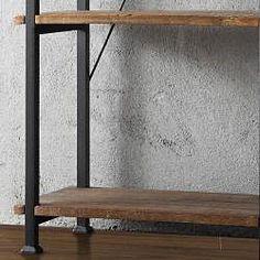@Overstock - This Myra Bookcase has a weathered and timeworn patina allowing traces of natural wood and original colors to show through. The frame is made of black sand metal with each shelf providing storage for books, magazines and other decorative accoutrements.http://www.overstock.com/Home-Garden/Myra-Bookcase/6743626/product.html?CID=214117 $218.69