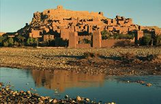 Morocco: The Kasbah of Aït Benhaddou, High Atlas. Built by the Berbers from the century onwards, a Kasbah was a single family stronghold (as opposed to a Ksar: a fortified tribal village). Casablanca, Marrakech, Tangier, Travel Around The World, Around The Worlds, Costa, Destinations, Roadtrip, Travel And Tourism