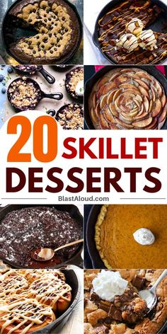The 20 best skillet desserts recipes that are perfect to please a crowd Looking to make a yummy dessert but don't have a lot of time? Then let me introduce you to skillet desserts. They're quick, tasty and super easy to make! Cast Iron Skillet Cooking, Iron Skillet Recipes, Cast Iron Recipes, One Skillet Meals, Skillet Chicken, Dutch Oven Cooking, Dutch Oven Recipes, Gourmet Recipes, Healthy Recipes