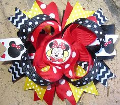 Minnie Mouse Classic Red Black Boutique Hair Bow. $9.99, via Etsy.