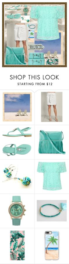 """The Beach is Calling Me."" by aurorasblueheaven ❤ liked on Polyvore featuring Venus, AT.P.CO, ILI, WearAll, Journee Collection, PBteen and Casetify"
