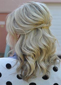 half-up medium-length hair - Google Search