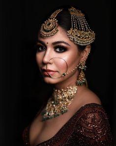 Bride Eye Makeup, Bridal Smokey Eye Makeup, Best Bridal Makeup, Wedding Makeup Looks, Brown Skin Makeup, Dark Eye Makeup, Simple Eye Makeup, Bridal Makeup Pictures, Dusky Skin