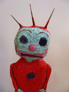 Odds N Ends Primitive Folk Art Doll Sculpture by seasonsart1031, $55.00