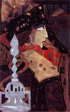 Ahinora, 1922-Ivan Milev - by style - Art Nouveau (Modern)