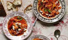 Sweet potato, red bean and tomato casserole.