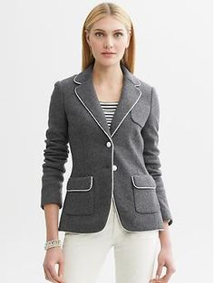 Piped blazer | Banana Republic
