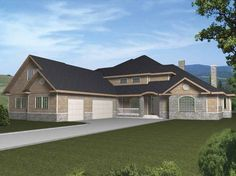 Contemporary-Modern House Plan with 4350 Square Feet and 3 Bedrooms from Dream Home Source   House Plan Code DHSW63033