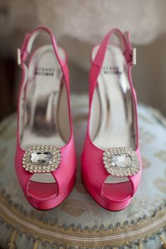 sparkle pink shoes! lacey could wear these w/ dress bridesmaids in greyishsilver or white? or black    @lacey