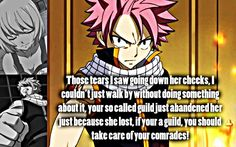 fairy tail Quotes Never Give Up | Natsu Quotes Natsu care for your comrades
