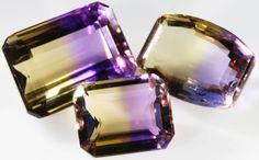 Faceted Ametrine Oval Gemstone Handmade Bracelet Cuff Fashion Jewelry
