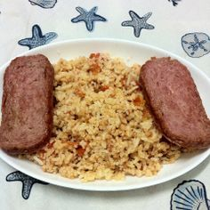 Bagoong rice with Spam