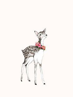 Little Deer by Daniela Dahf Henriquez - L'Affiche Moderne   Flickr: partage de photos!