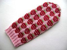 Strawberry Mittens pattern by SpillyJane